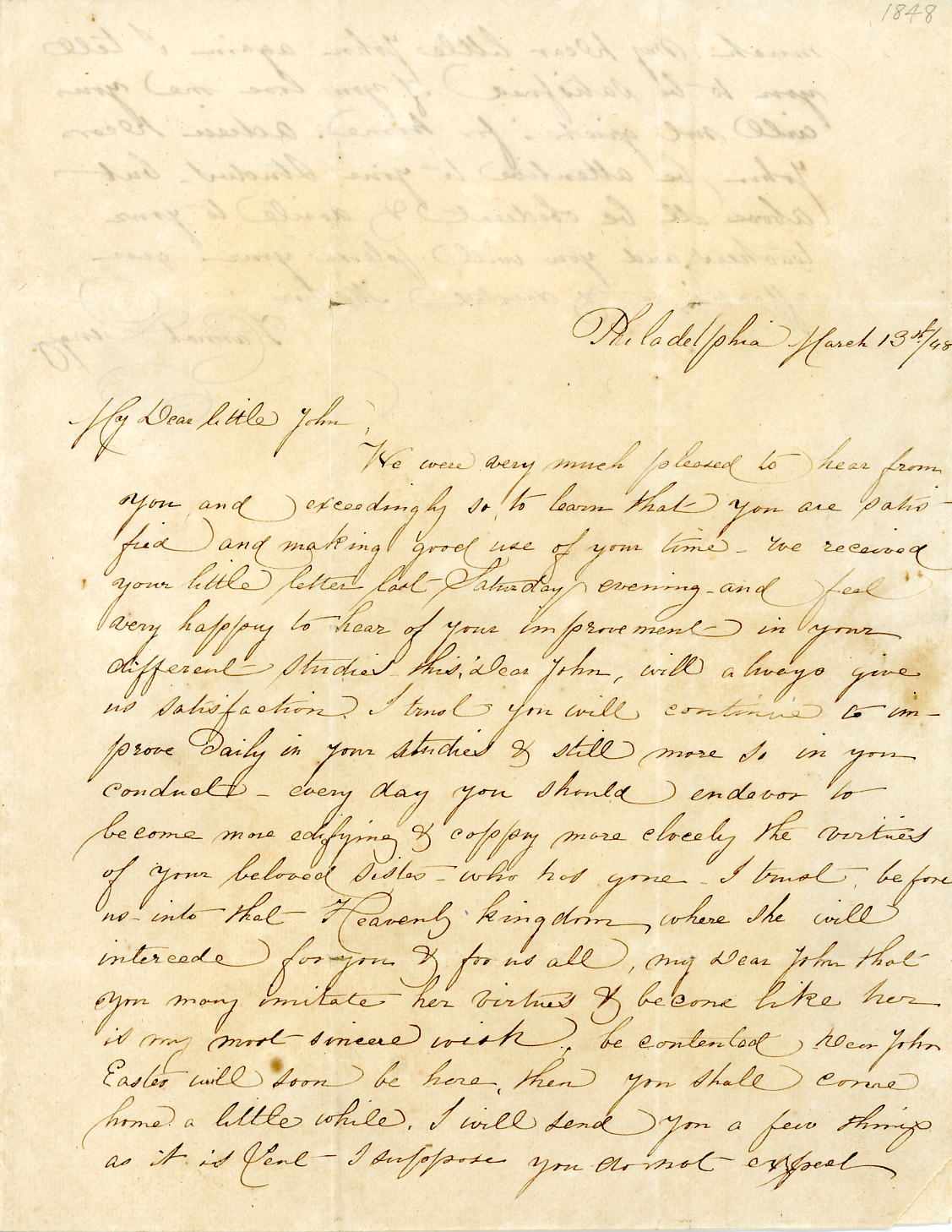 Letter dated 13 March 1848.