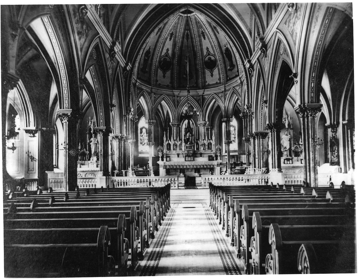 Interior of new church