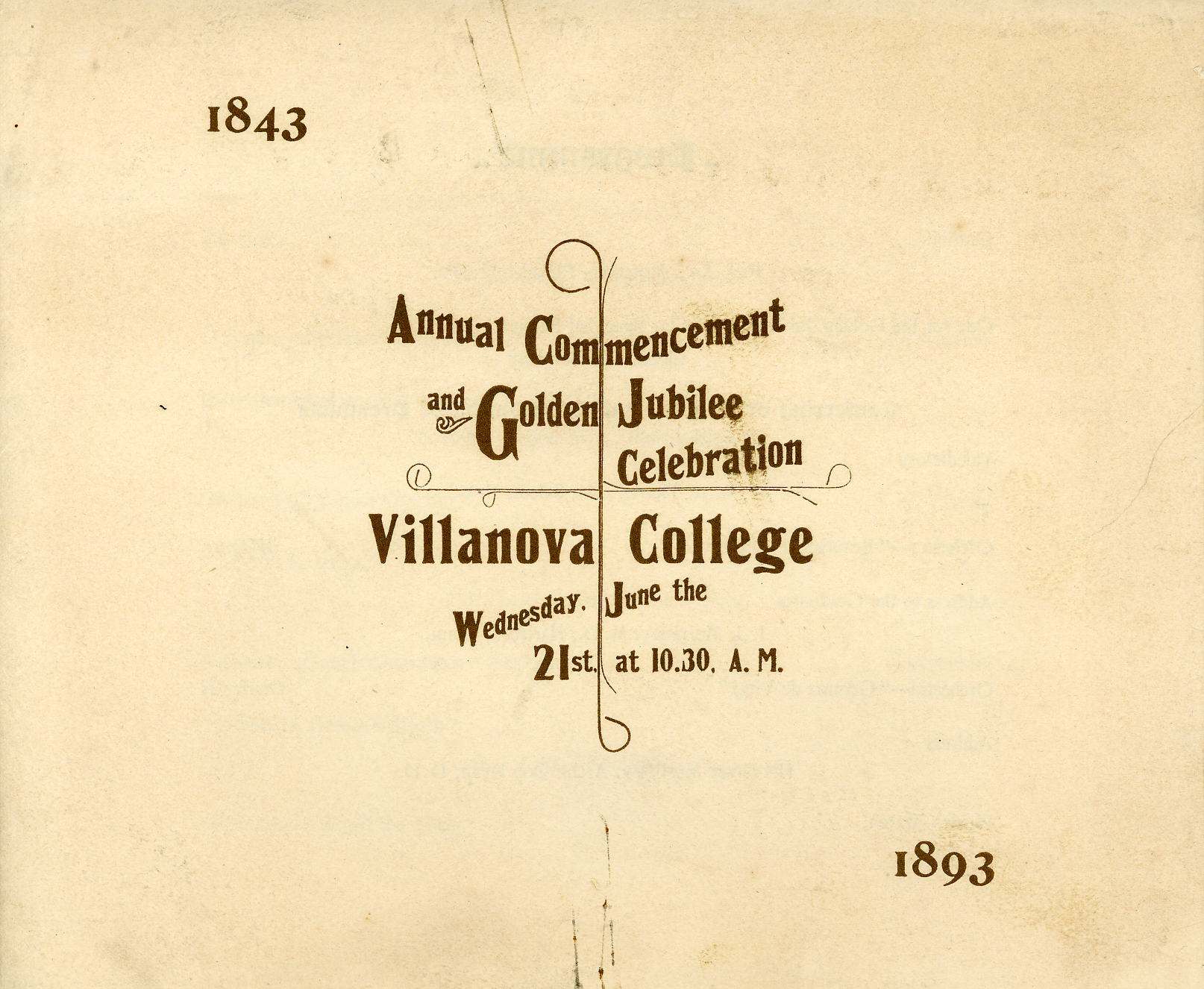 Commencement and Golden Jubilee 1893