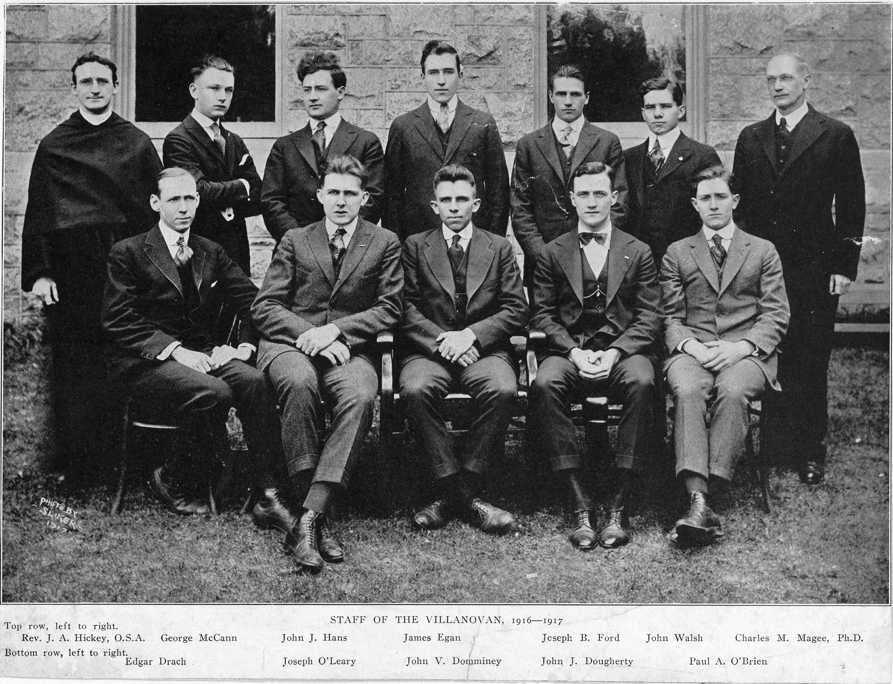 Staff of The Villanovan, 1916-1917.
