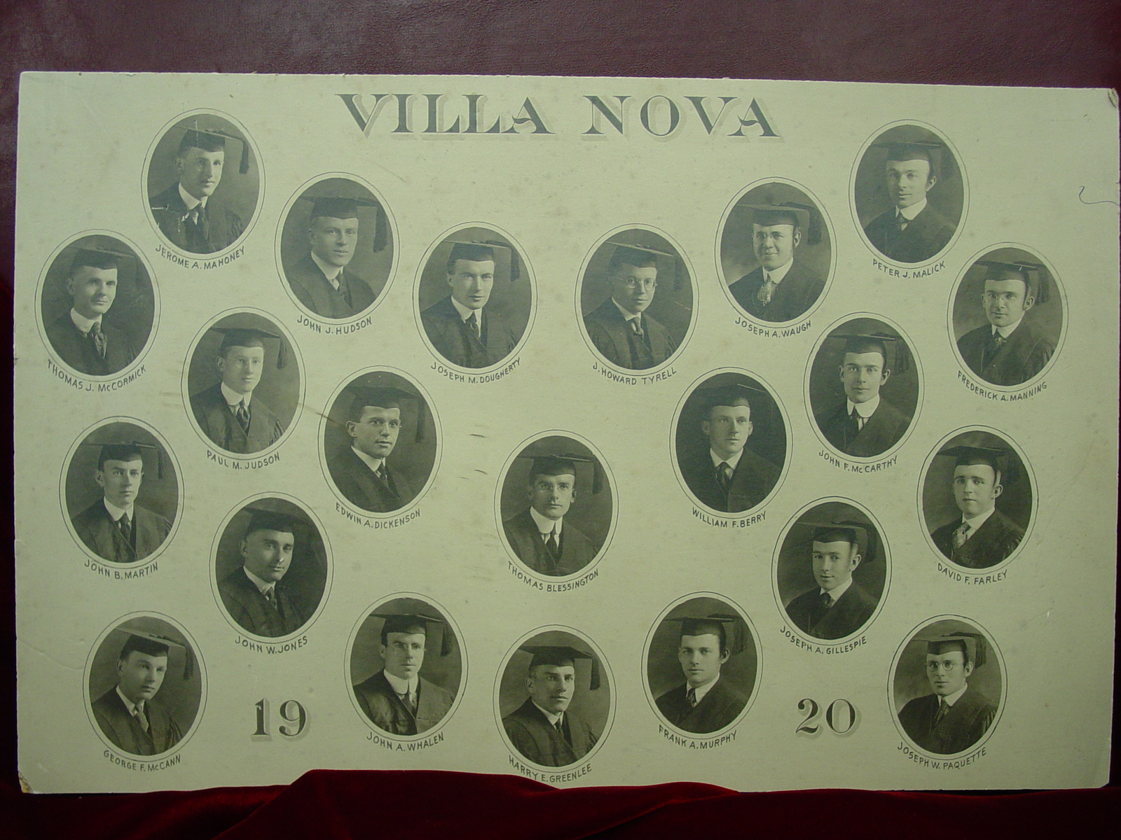 Villanova College class of 1920.