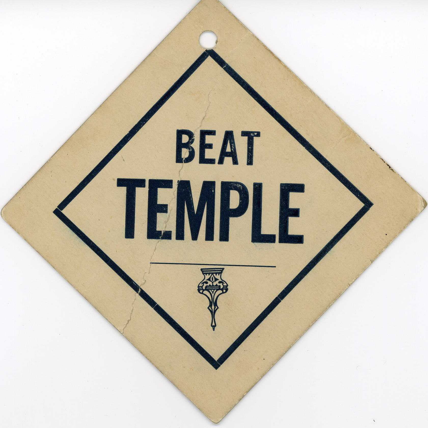 �Beat Temple� placard.