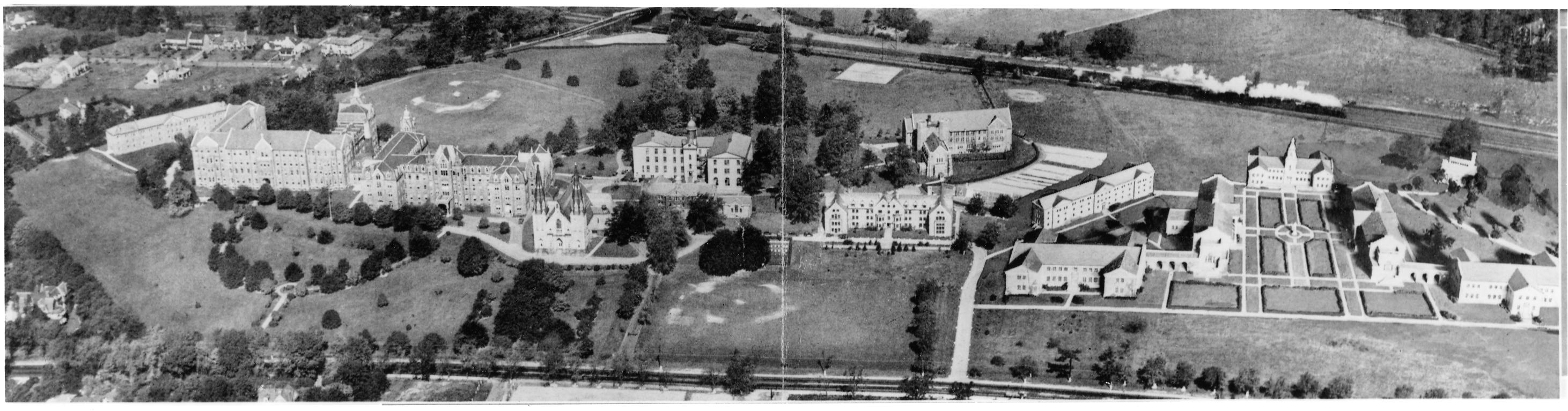 The projected quadrangle on East Campus, 1930