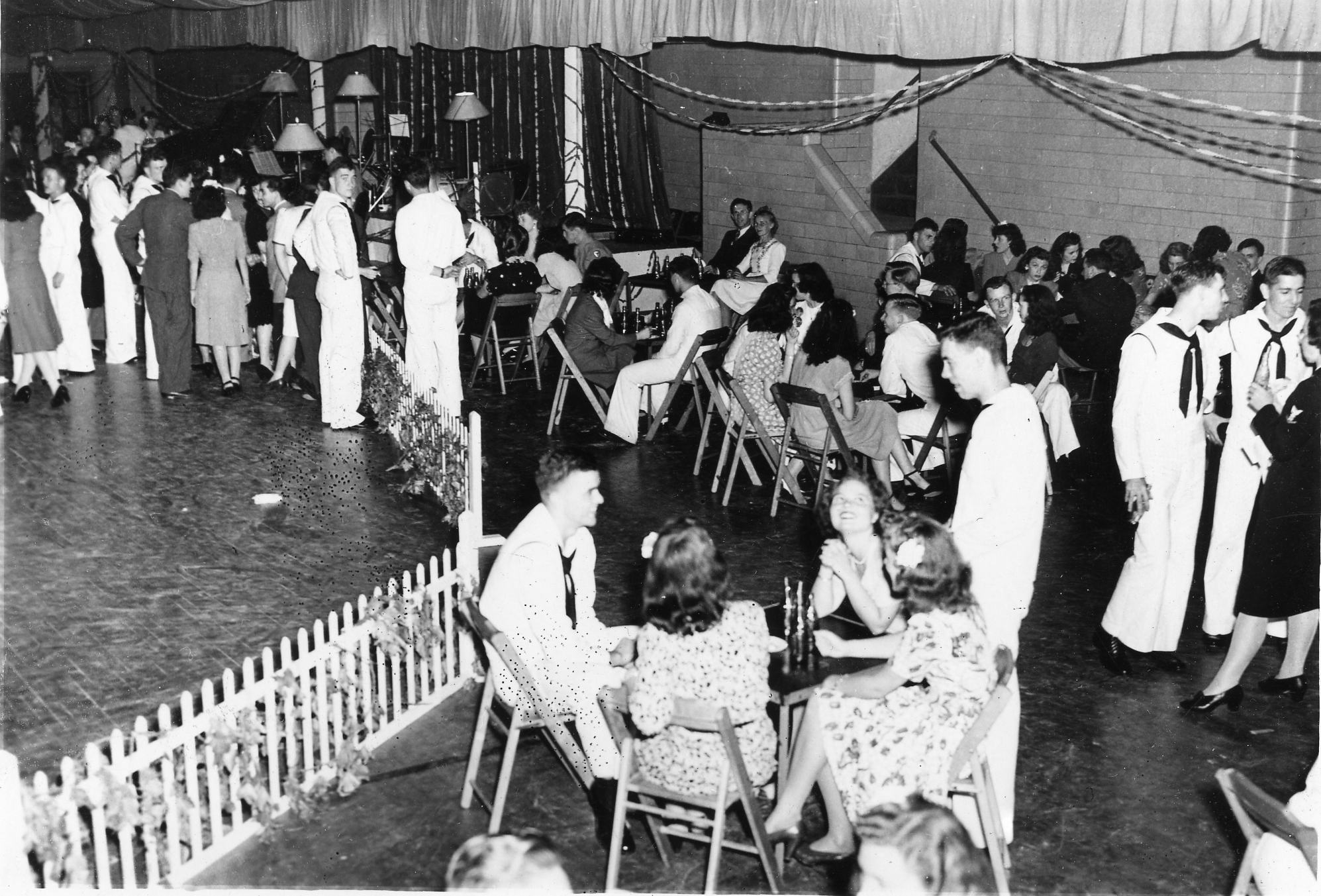 Wartime dance at the Field House, Spring 1942