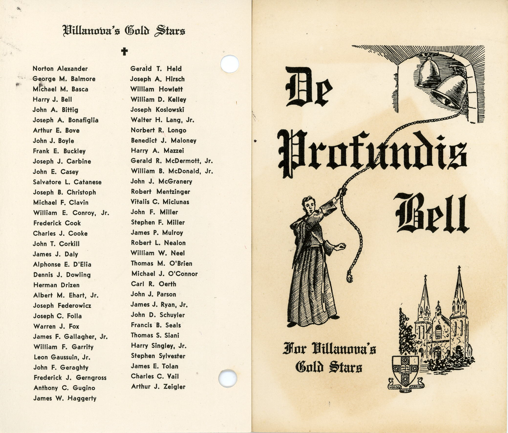 De Profundis Bell and Villanova�s Gold Stars