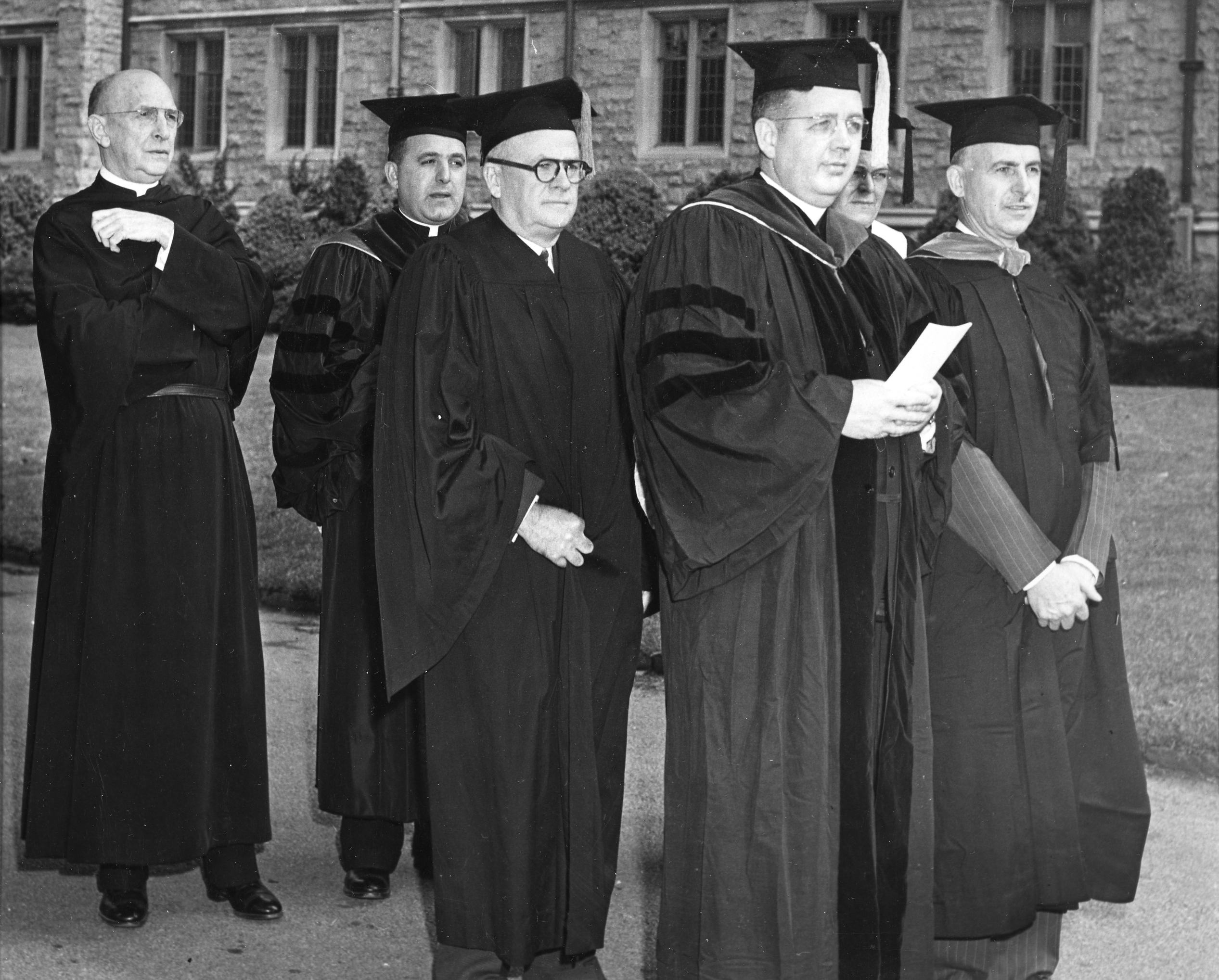 Academic procession, Villanvoa College Commencement, 1950
