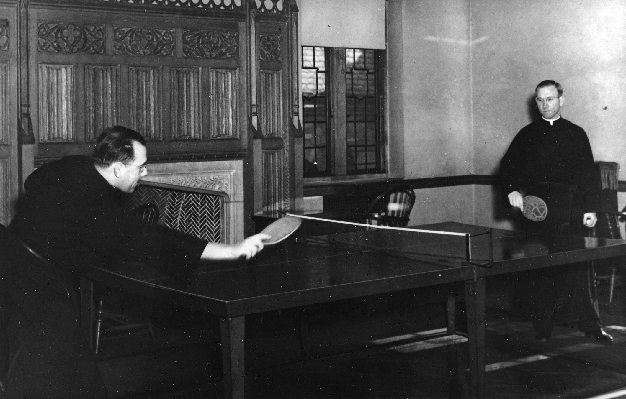 Augustinians playing ping-pong