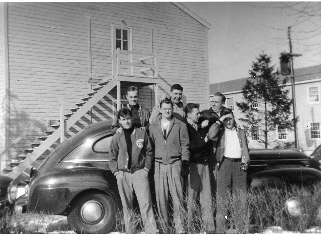 Student residents of the barracks on East Campus, c. 1950