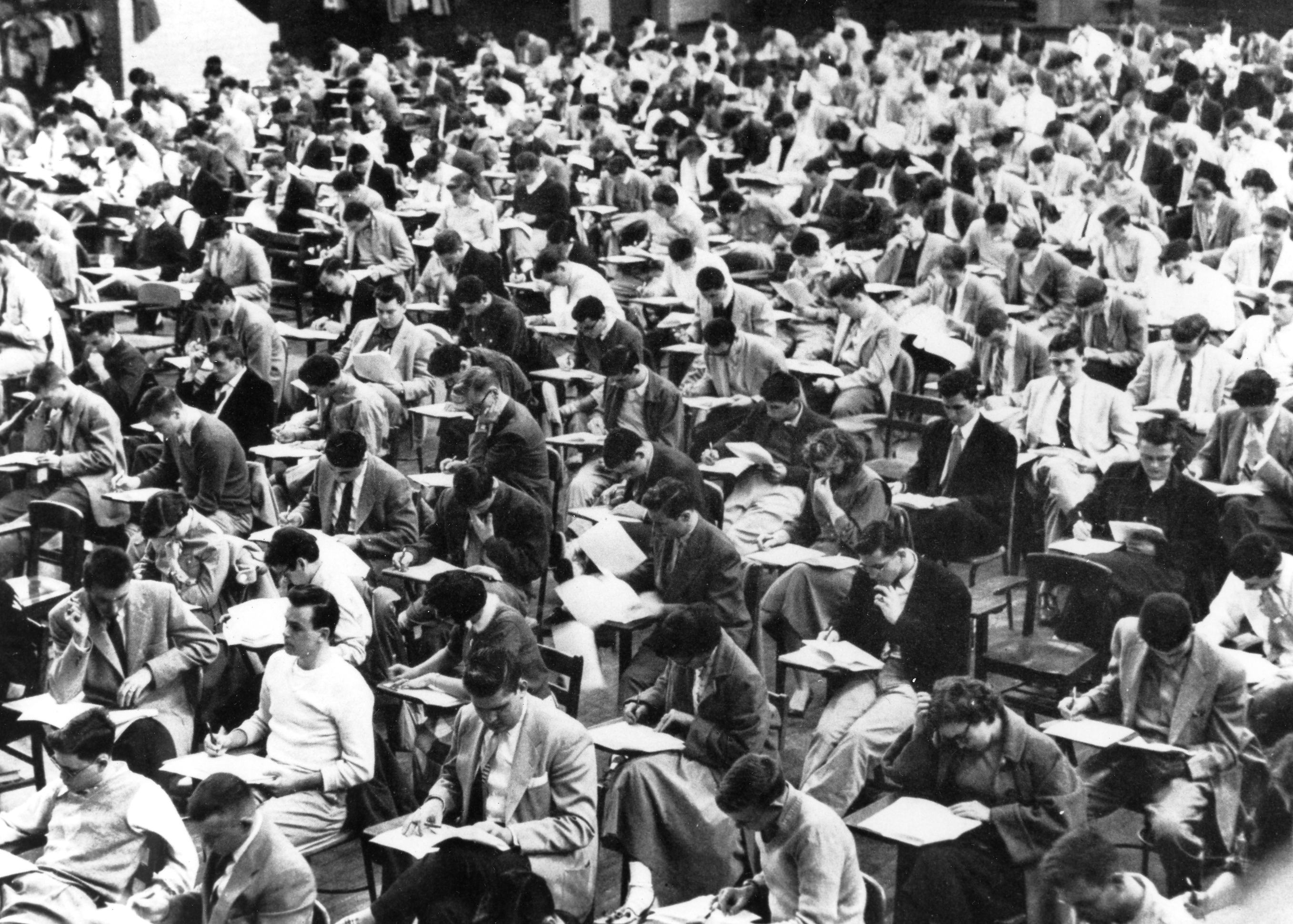 These students took their final exams