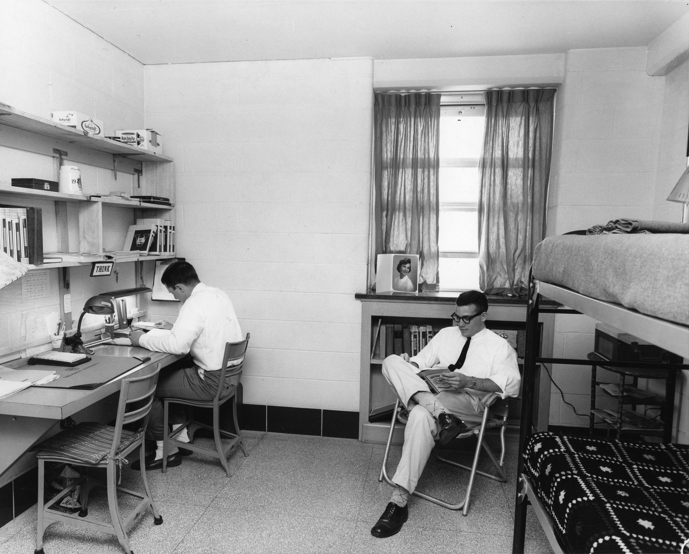 Residents students in Sheehan Hall, 1960