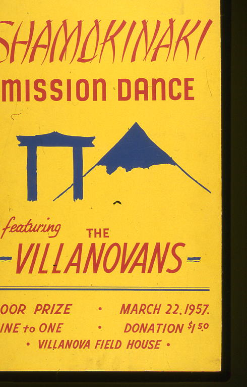 Poster for Shamokinaki Mission Dance, 1957