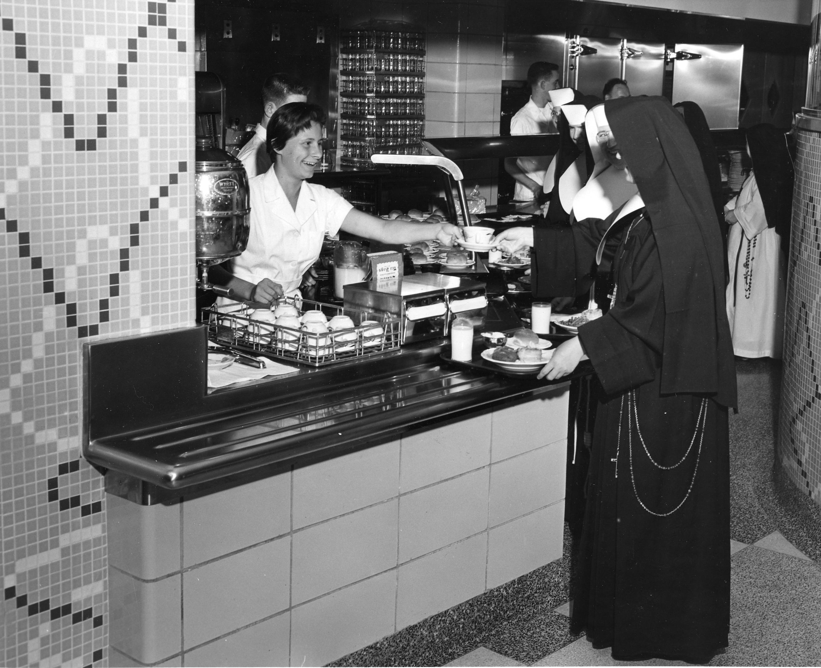 Sisters are served Cafeteria style
