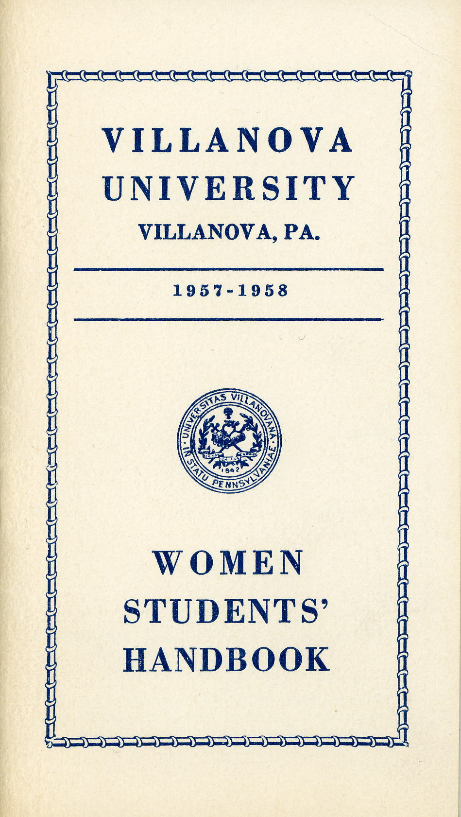 Women Students Handbook, 1957-1958