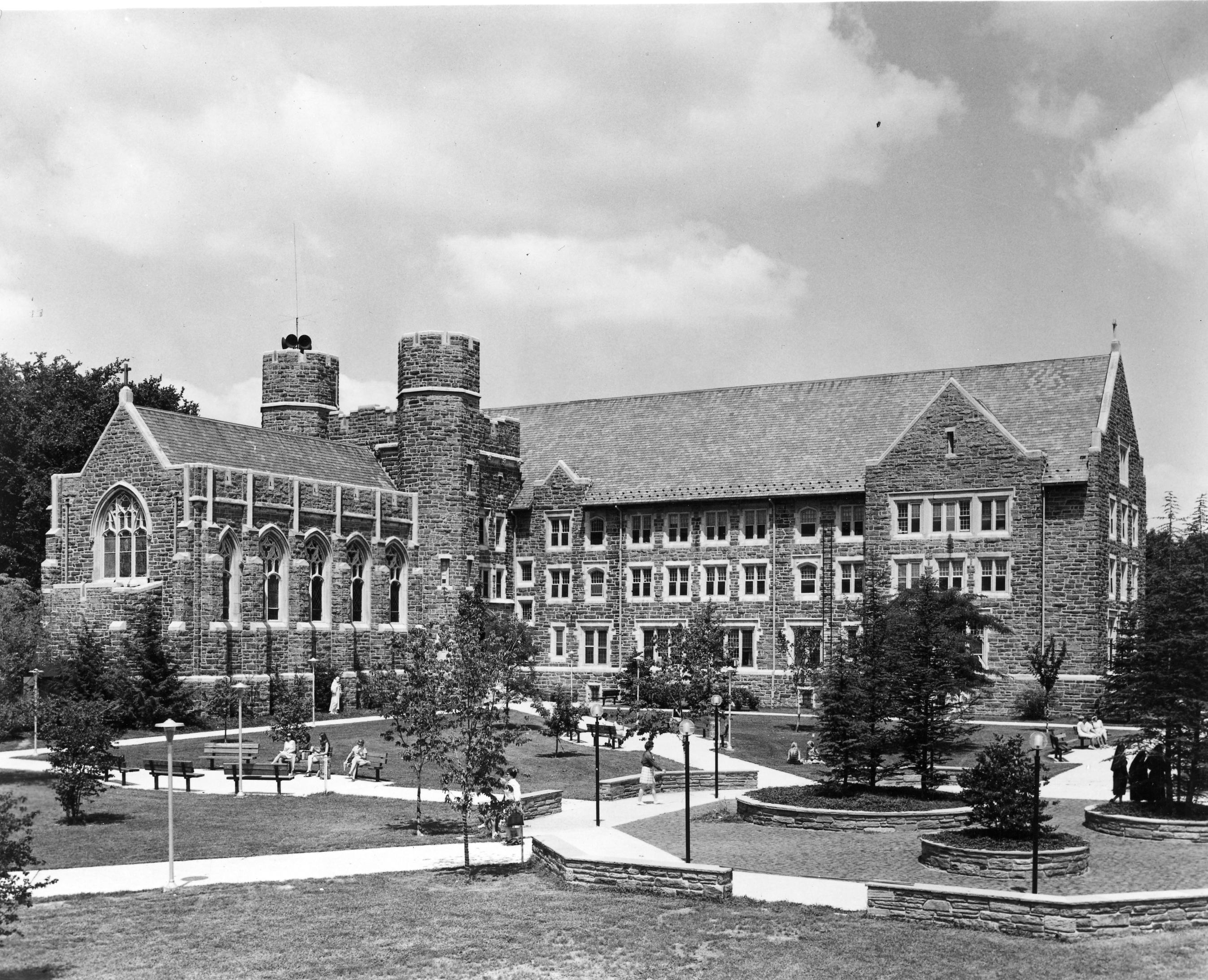 Corr Hall and Courtyard, 1970