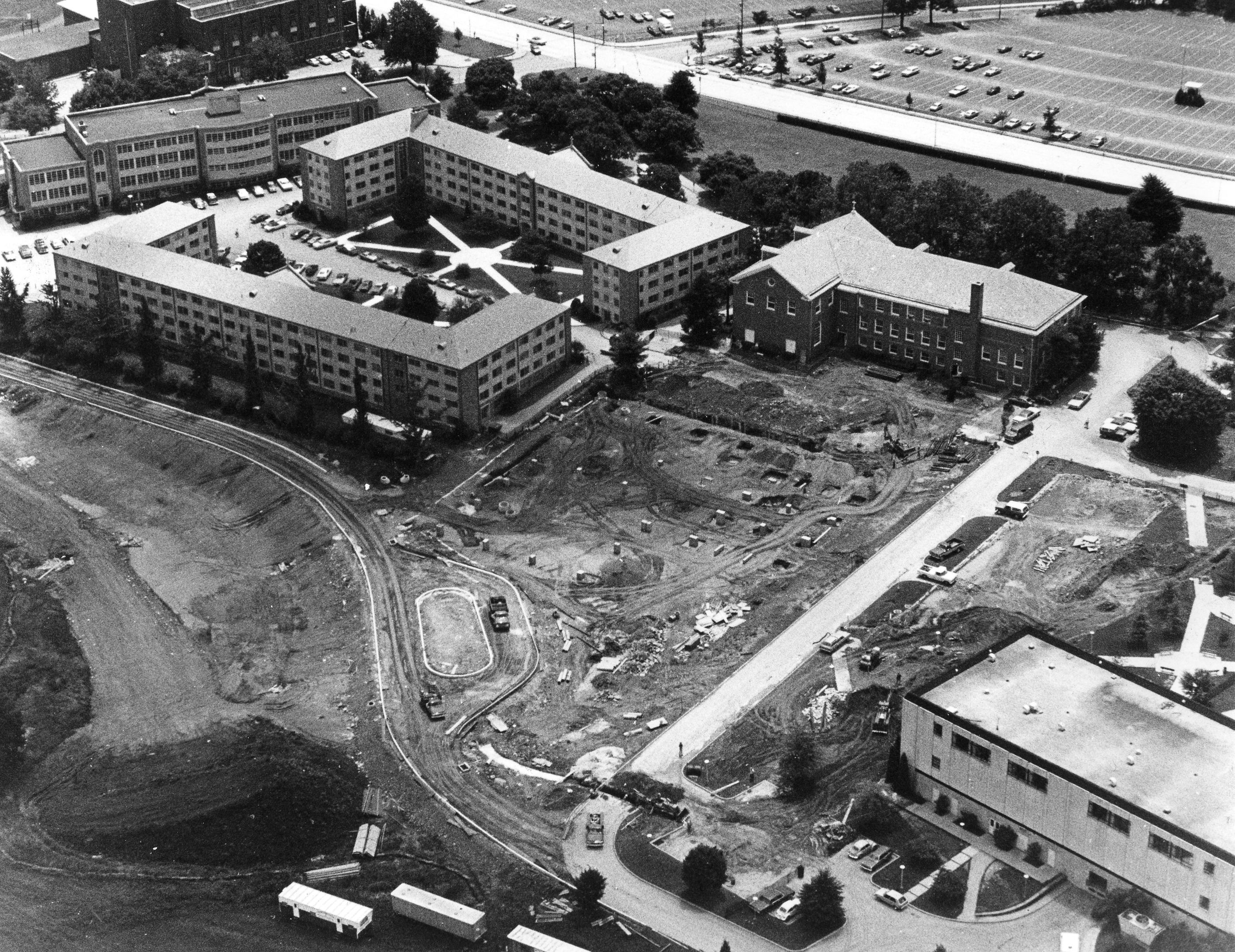 Construction at Villanova University, 1978