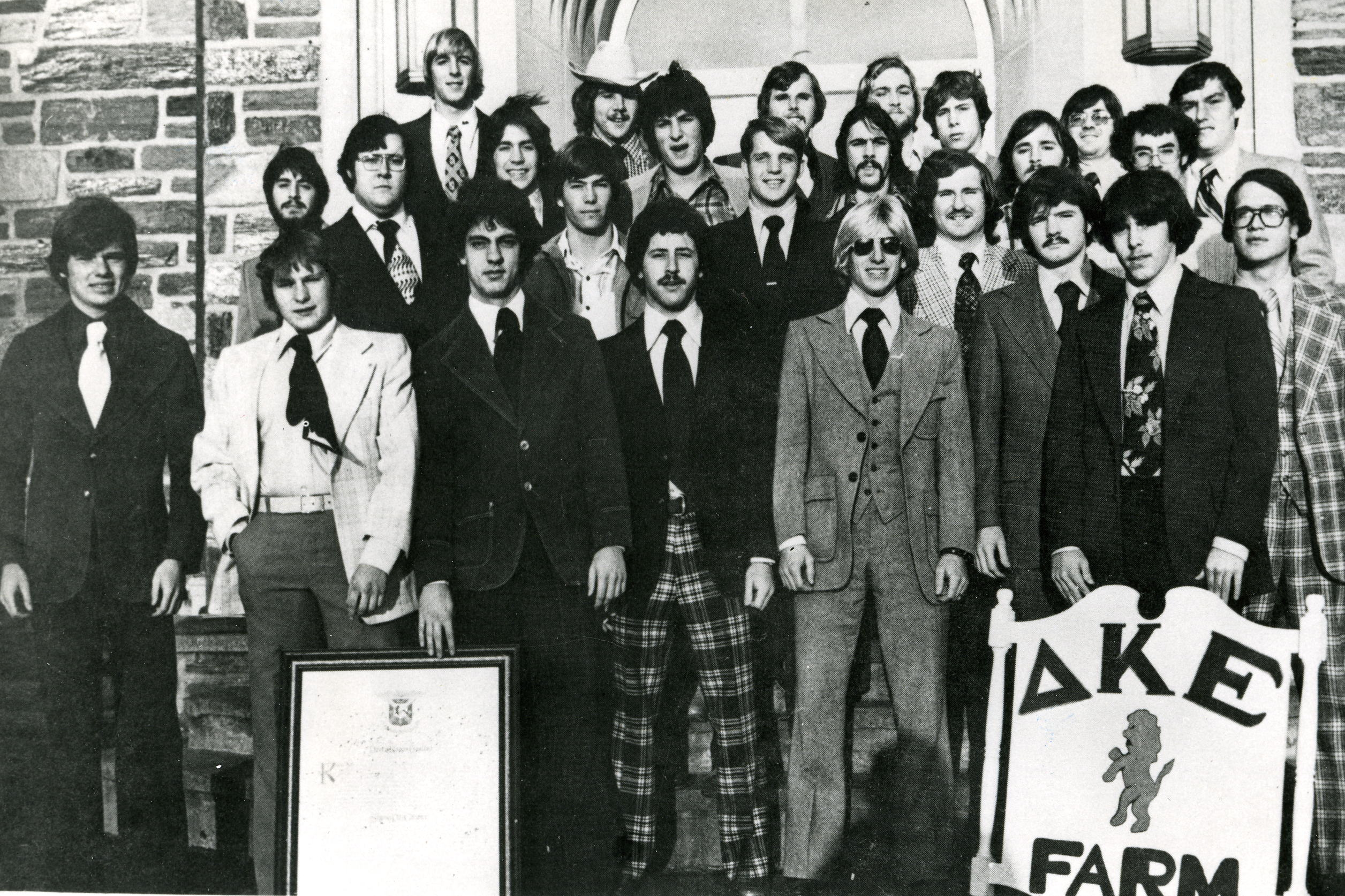 The Delta Kappa Epsilon fraternity at Villanova, 1979.