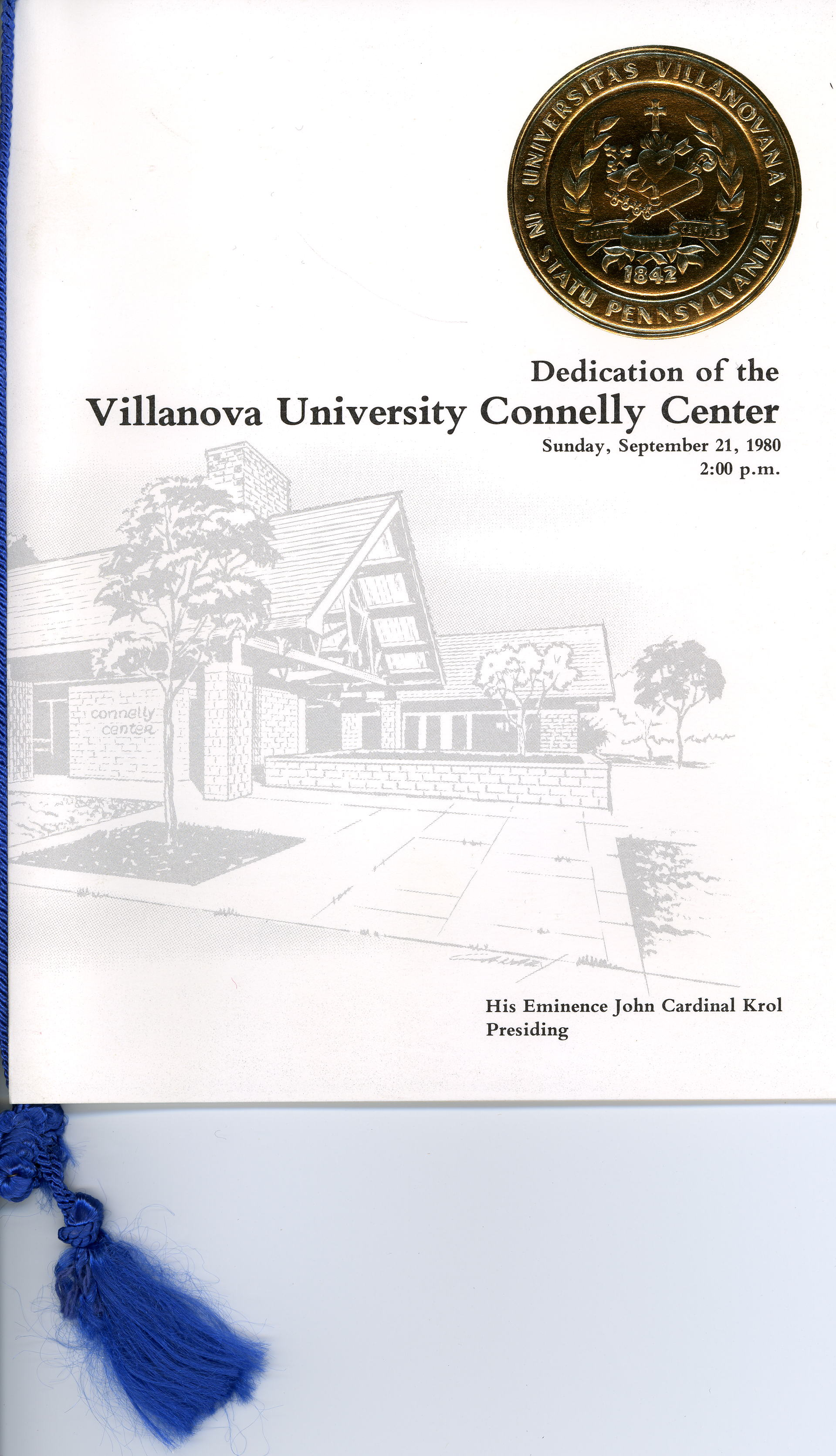 Program, Dedication of Connelly Center, 21 September 1980