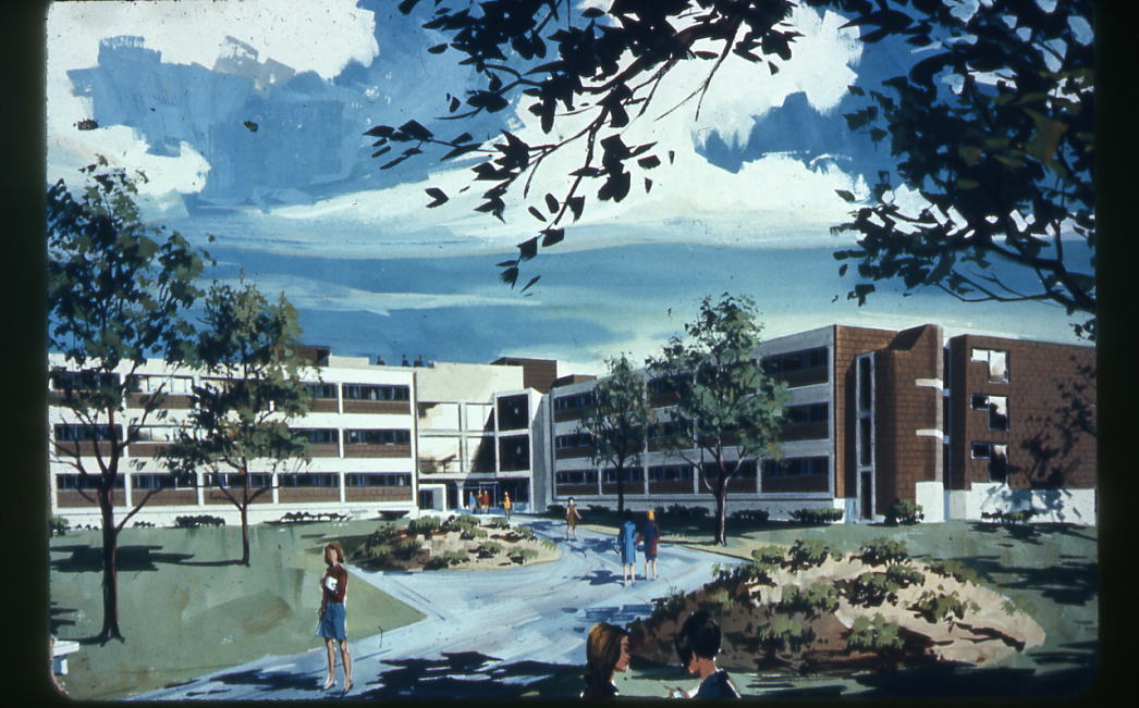 Artist rendition of Stanford Hall, 1968