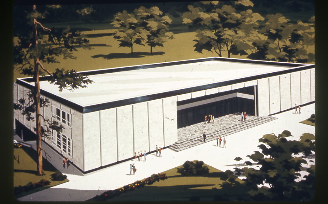 Artist rendition of Kennedy Hall, 1968